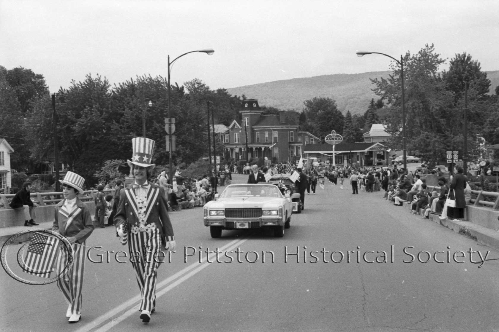 P. J. Melvin marching in Pittston's parade to mark the American Bicentennial, 1976. Sunday Dispatch Photographic Collection (1976.1.0222), Greater Pittston Historical Society, Pittston, PA.