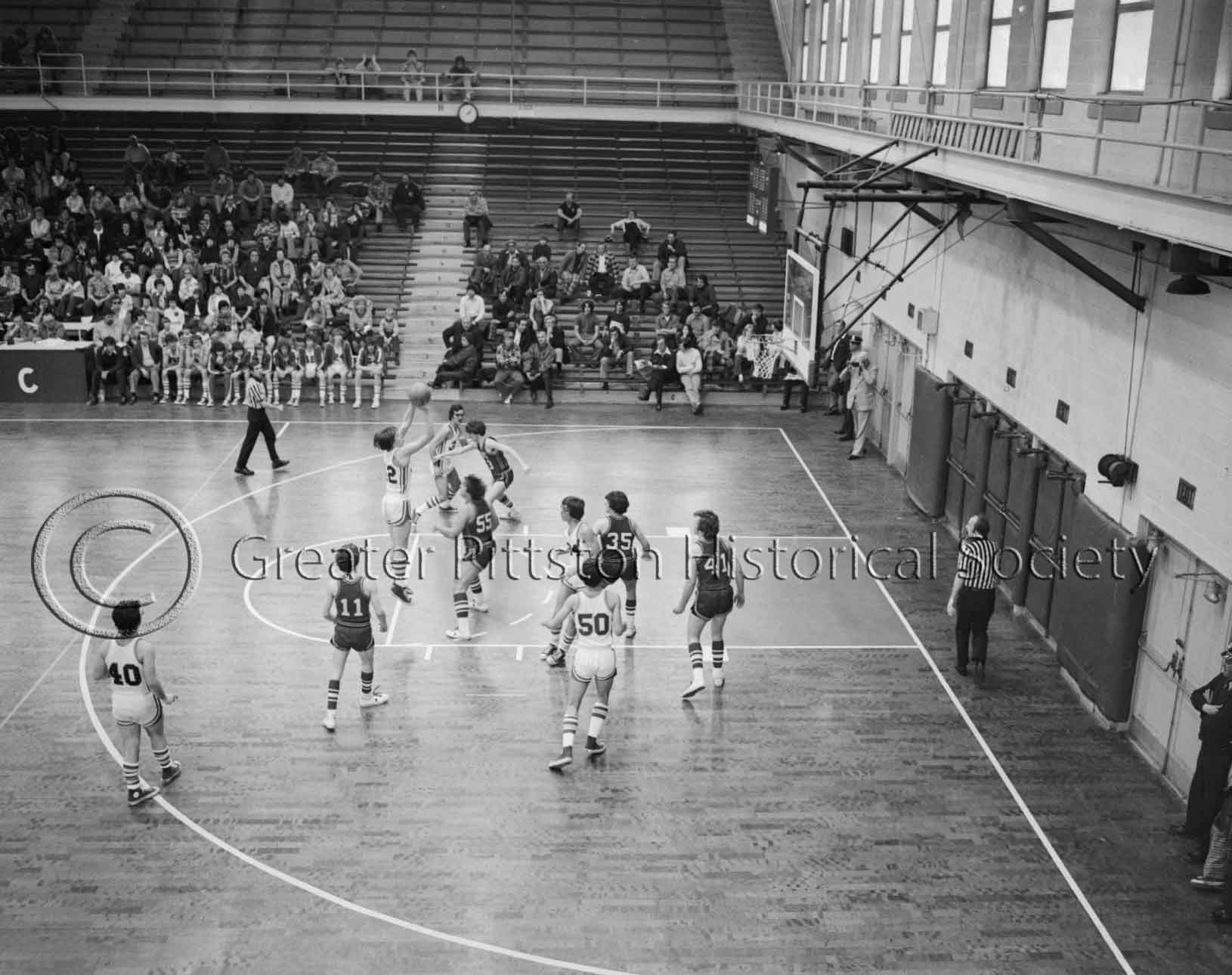 Pittston Area High School vs. Unknown Opponent (1976), Scranton, PA. Sunday Dispatch Photographic Collection (1976.1.1102), Greater Pittston Historical Society, Pittston, PA.