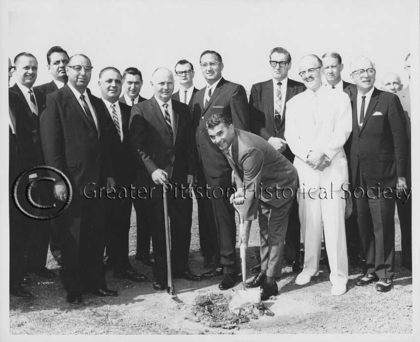 Caption: Congressman Daniel J. Flood and other local dignitaries, as a ground-breaking ceremony near Pittston, c.1970-1980. Lukasik Studios Collection, Greater Pittston Historical Society, Pittston, PA.