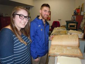 AFSC students in the archive