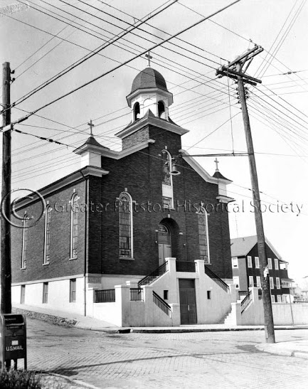 Saint Rocco's Church (undated). Mike Savokinas Collection (MS0000.1274), Greater Pittston Historical Society, Pittston, PA.