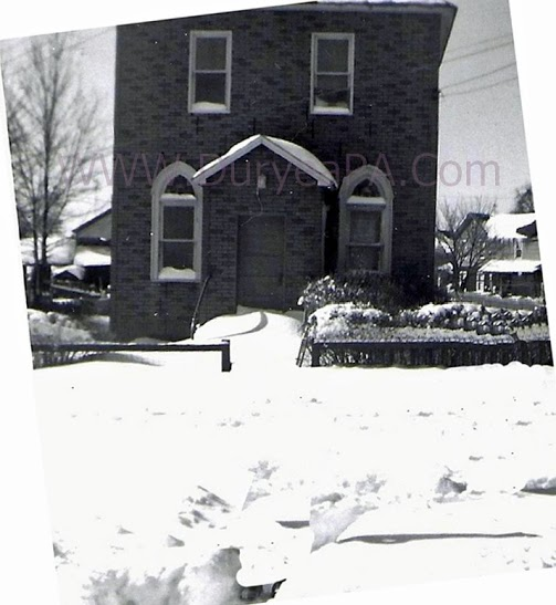 Orthodox Jewish Temple, Newton Street, Duryea, PA (undated). Image Courtesy of Mike Lizonitz and DuryeaPA.com
