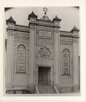 "Temple Agudath Achim, meaning ""society of brothers,"" which was located on Broad Street in Pittston (now the site of Child Jesus Traditional Catholic Church). Image courtesy of Dr. Daniel Weisberger."